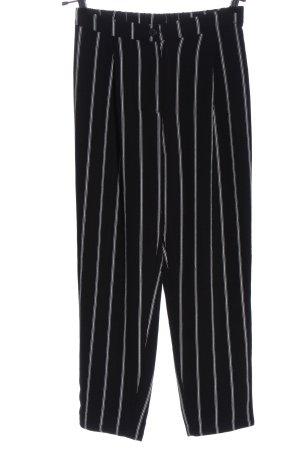H&M Divided Stoffhose schwarz-weiß Streifenmuster Casual-Look