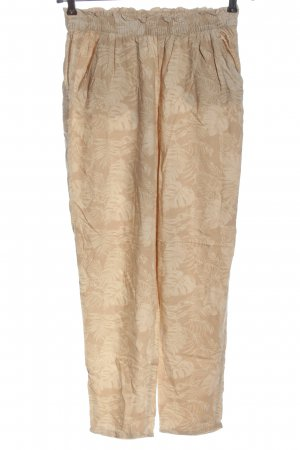 H&M Divided Jersey Pants nude-cream allover print casual look