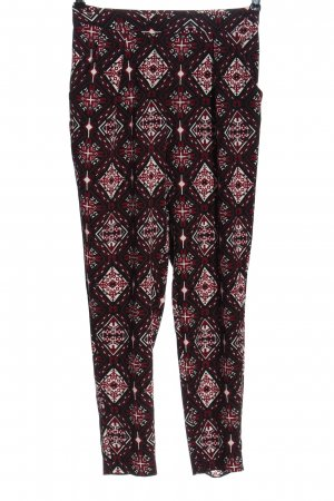 H&M Divided Stoffhose abstraktes Muster Casual-Look