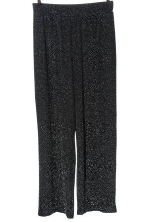 H&M Divided Jersey Pants black wet-look