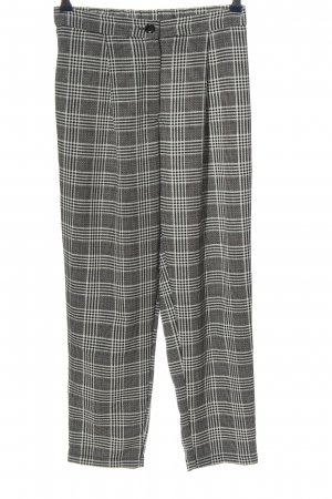 H&M Divided Jersey Pants black-white check pattern casual look