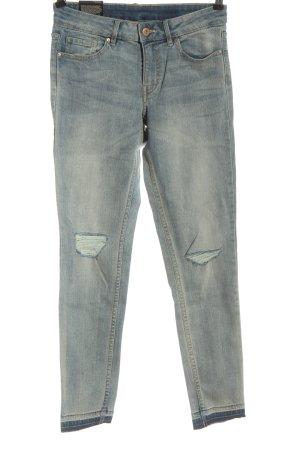 H&M Divided Jeansy z prostymi nogawkami niebieski W stylu casual