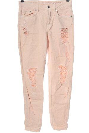 H&M Divided Jeansy z prostymi nogawkami różowy W stylu casual