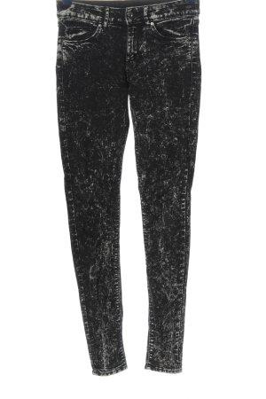 H&M Divided Stretch Jeans schwarz-hellgrau Casual-Look