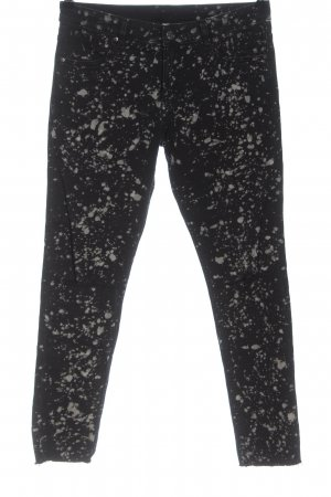 H&M Divided Jeans elasticizzati nero-grigio chiaro motivo grafico stile casual