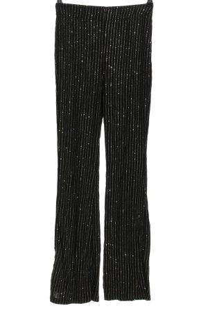 H&M Divided Stretchhose schwarz-weiß Streifenmuster extravaganter Stil