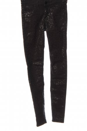 H&M Divided Stretch Trousers black leopard pattern casual look