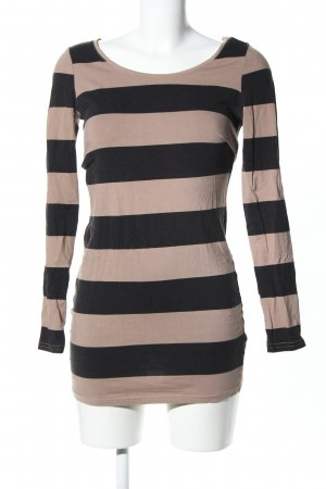 H&M Divided Stretch jurk room-zwart gestreept patroon casual uitstraling