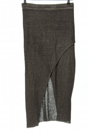 H&M Divided Stretchrock hellgrau meliert Casual-Look