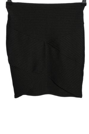 H&M Divided Spódnica ze stretchu czarny Wzór w paski W stylu casual