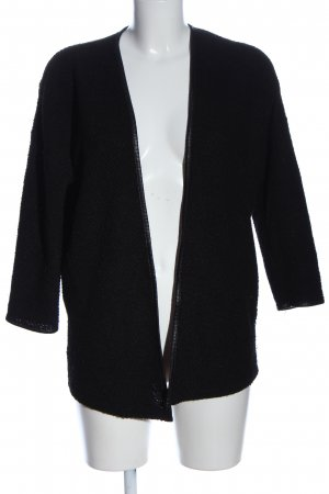 H&M Divided Strick Cardigan schwarz Casual-Look