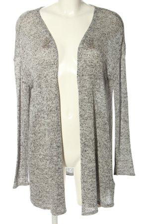H&M Divided Strick Cardigan hellgrau-weiß Casual-Look