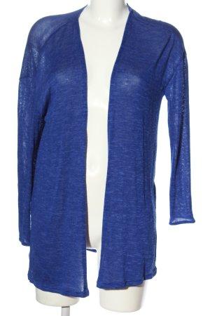 H&M Divided Strick Cardigan blau meliert Casual-Look
