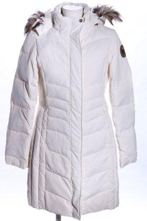 H&M Divided Gebreide cardigan wit quilten patroon casual uitstraling