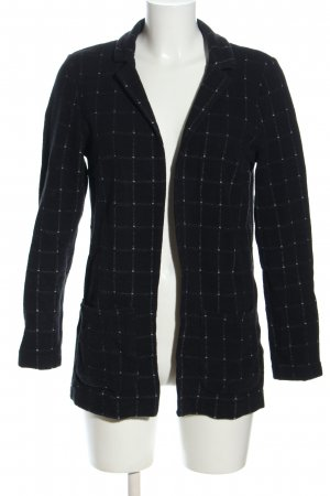 H&M Divided Strickblazer schwarz Karomuster Casual-Look