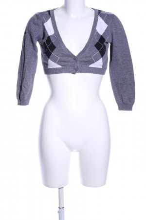 H&M Divided Knitted Bolero light grey graphic pattern casual look