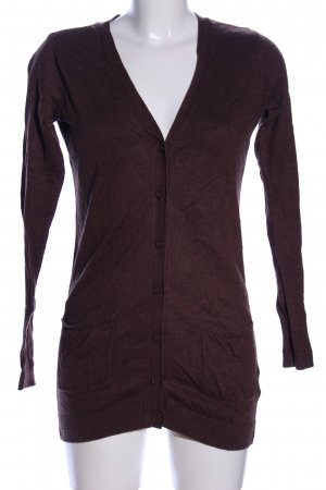 H&M Divided Strickjacke braun Casual-Look