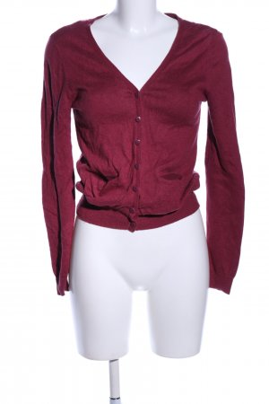 H&M Divided Strickjacke rot Casual-Look
