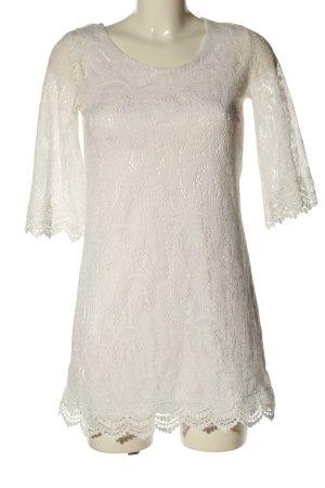 H&M Divided Vestido tejido blanco Patrón de tejido look casual