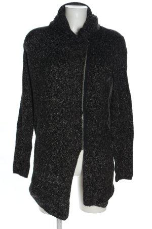 H&M Divided Cappotto a maglia nero puntinato stile casual