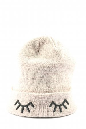 H&M Divided Knitted Hat cream-black flecked casual look