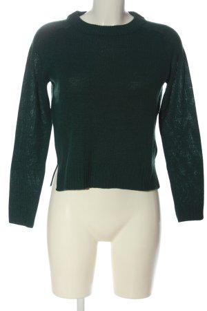 H&M Divided Strickpullover grün Casual-Look