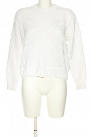 H&M Divided Strickpullover weiß Casual-Look