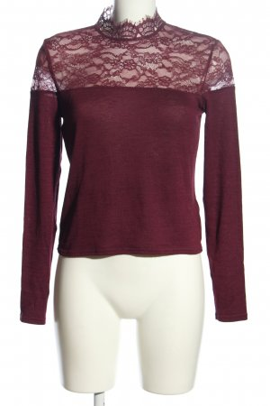 H&M Divided Strickpullover lila Casual-Look