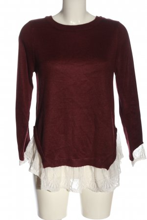 H&M Divided Knitted Sweater red-natural white elegant