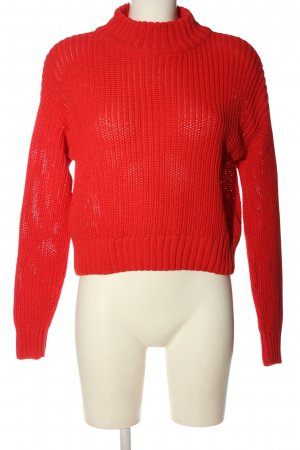 H&M Divided Strickpullover rot Casual-Look