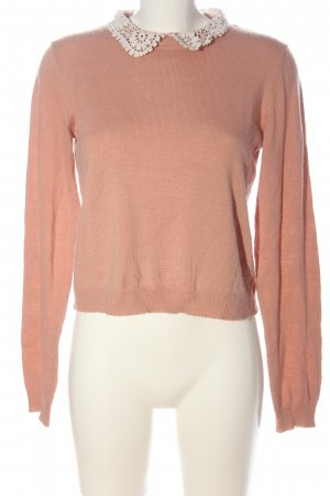 H&M Divided Strickpullover nude-weiß Casual-Look