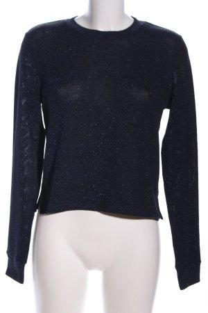 H&M Divided Strickpullover schwarz-blau Casual-Look