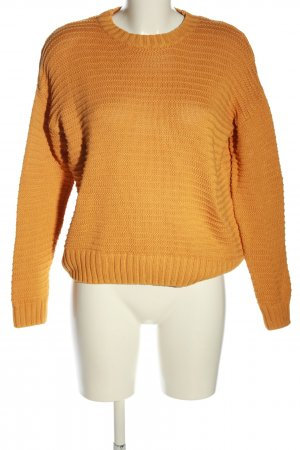 H&M Divided Strickpullover hellorange Zopfmuster Casual-Look