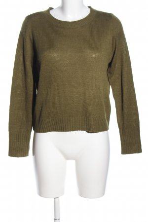 H&M Divided Strickpullover khaki Casual-Look