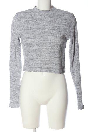 H&M Divided Strickpullover hellgrau meliert Casual-Look