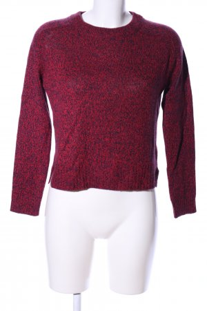 H&M Divided Strickpullover rot meliert Casual-Look