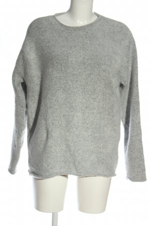 H&M Divided Knitted Sweater light grey flecked casual look
