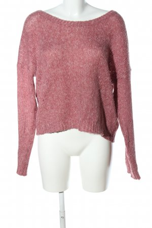 H&M Divided Strickpullover pink meliert Casual-Look