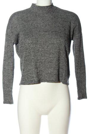 H&M Divided Strickpullover weiß-schwarz meliert Casual-Look