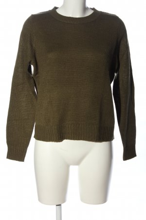 H&M Divided Strickpullover khaki meliert Casual-Look