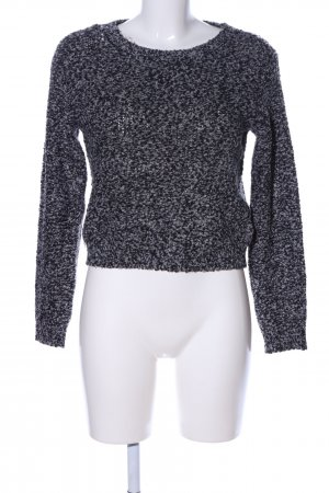 H&M Divided Strickpullover hellgrau Allover-Druck Casual-Look