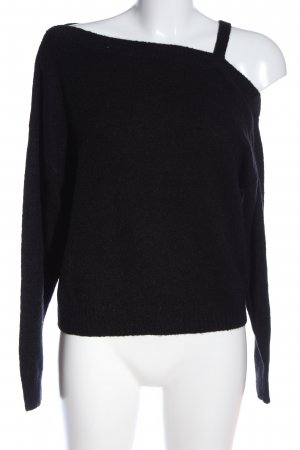 H&M Divided Strickpullover schwarz Casual-Look