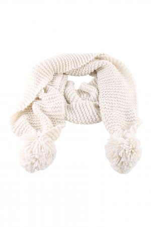 H&M Divided Knitted Scarf cream cable stitch casual look