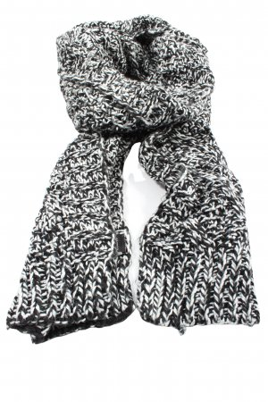 H&M Divided Knitted Scarf black-white flecked casual look