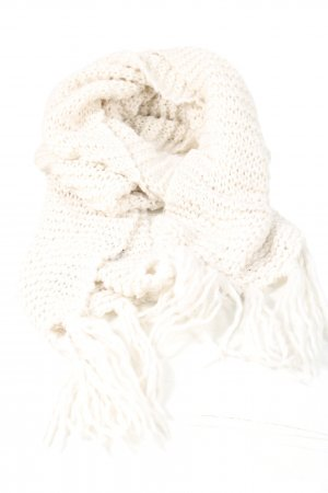 H&M Divided Knitted Scarf cream casual look