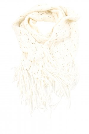 H&M Divided Knitted Scarf white weave pattern casual look