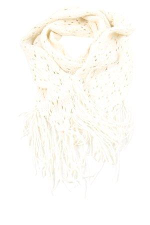 H&M Divided Gebreide sjaal wit Webpatroon casual uitstraling