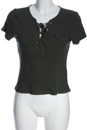 H&M Divided Camisa tejida caqui look casual