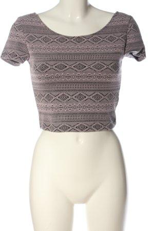 H&M Divided Strickshirt pink-schwarz Allover-Druck Casual-Look