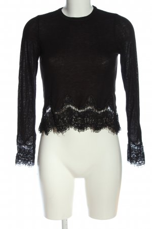 H&M Divided Fine Knit Jumper black casual look
